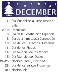 international day december - mes internacional diciembre