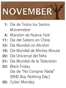 international day november - mes internacional noviembre