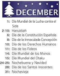 international day december - mes internacional diciembre
