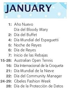 días internacionales en enero