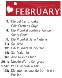 international day february - mes internacional febrero